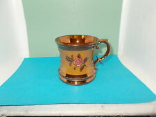 Victorian C19th Sunderland Copper Lustre Tankard Mug with raised decoration (a)