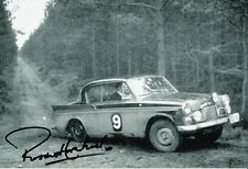 Paddy Hopkirk Hand Signed Rally Photo 12x8.