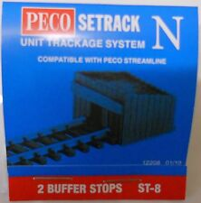 Peco ST-8. 2 Sleeper Built Buffer Stops. (N Gauge) (Model Railways)