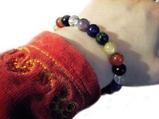 Seven 7 CHAKRA Beaded GEMSTONE Balancing Healing Energy YOGA Jewelry BRACELET