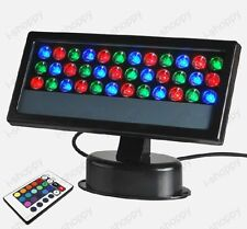 36W LED RGB Remote control Flood Project Light Outdoor Waterproof Wall Wash Lamp