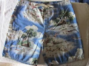 Ralph Lauren HAWAIIAN PRINT BOARD SHORTS NWT 30
