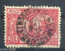 BRESIL - BRASIL, 1916, timbre CLASSIQUE 148, BATEAUX, BAIE de GUAJARA, oblitéré