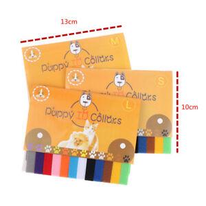 12 Pieces/Set Puppy Newborn Pet Recognition Collar Kitten Necklace Pu WH HFJ DF