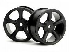 #3736 HPI TYPE R5 WHEEL 24mm BLACK 0mm OFFSET 12MM HEX HPI RS4 SPRINT E10 PRO4
