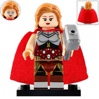 Lady Thor (Jane Foster) - Marvel Lego Moc Minifigure, Figure Gift For Kids