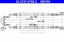 Seilzug, Feststellbremse für Bremsanlage Hinterachse ATE 24.3727-0785.2