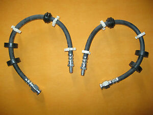 LANCIA DELTA 2.0 HF Turbo (1993 on) NEW PAIR of FRONT BRAKE HOSES -773243,VBH682