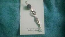 GODDESS PENDANT LABRADORITE & Swarovski Crystal Beads Wicca Tribal Charm Shimmer