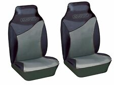 BRANDS HATCH UNIVERSAL FRONT SEAT PROTECTOR COVERS GREY & BLACK TOUGH WATERPROOF