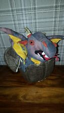 """HATCHING black DRAGON & EGG  13"""" tall soft toy THE PUPPET COMPANY"""
