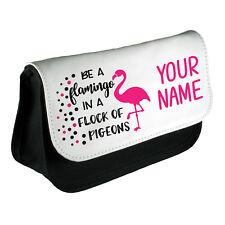 Personalizado Chicas Flamingo Estuche Maquillaje Bolsa Escolar Niños Personalizado Nuevo