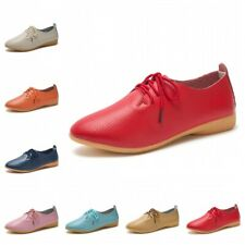 16 Colors Womens 43 44 Casual Loafers Shoes Outdoor Faux Leather Oxfords Flats B