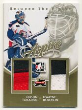 2011-12 Between The Pipes Aspire Gold DWAYNE ROLOSON TOKARSKI Dual Patch SP /10