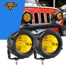 "AUXBEAM 3.5"" LED Work Light Bar Spot Amber Driving Fog Lamp Offroad 4WD Truck"