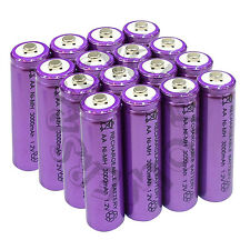 16 x AA LR6 UM3 3000mAh Ni-MH Rechargeable Battery Purple Cell 2A