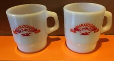 Anchor Hocking  Milk Glass Saratoga Sunrise Coffee / Tea Cup / Mug