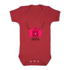 Cute Pink Camera Daddy's Assistant Infant Toddler Baby Cotton Bodysuit One Piec