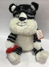Hallmark Leonardo Black White Tiger Animated Talking Stuffed Plush Animal Nwts