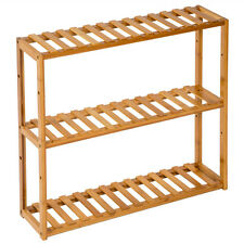 Scaffale in legno espositore libreria mensole bamboo bagno dispensa 3 ripiani