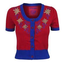 Marvel x We Love Fine Captain Marvel Vintage Cardigan Holiday Sweater Size Large