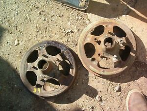 """1932 1933 1934 Ford 12"""" Rocky Mountain Front Brake Drums Pair"""