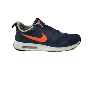 Nike Air Max Tavas Blue Orange Mens Size 9.5 Low Top Lace Up Running Sneakers