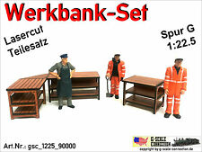 Spur G - Werkbank Set - 3 Werkbänke - gsc_1225_90000 - Lasercut 1:22,5 - LGB