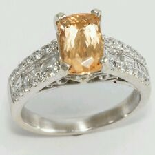 14kt Precious Topaz Diamond Ring. 2.43 CTW.