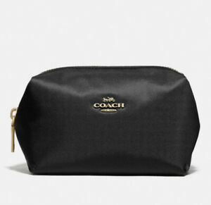 NWT COACH Small Boxy Cosmetic Case 1079 Black