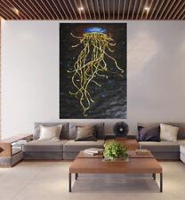 200cm Irukandji black  original art painting modern signed By Jane COA Australia