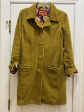 MISSONI FOR TARGET Yellow Courdoroy Coat Size Medium