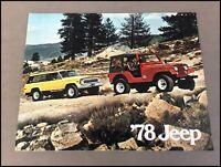 1978 Jeep Vintage Sales Brochure Catalog - CJ-5 Cherokee Wagoneer Truck CJ-7 CJ7