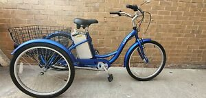 """IZIP electric tricycle - Blue - 18"""" inch Frame- 48hr delivery service"""