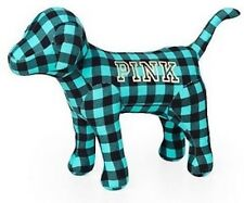 "Victorias Secret Pink GIANT 10"" x 13"" Mini Giant Dog Limited Ed Plaid NWT"