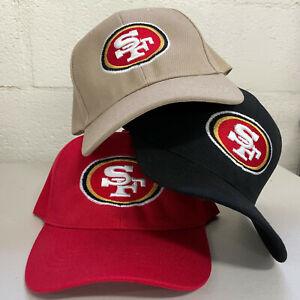 San Francisco 49ers Cap Hat Embroidered Men Adjustable Curved SF Men