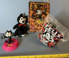 "1996 Felix the Cat 4.5"" Plush Lenticular Card 2 PVC Toys Wendy's Kids Meal Lot"