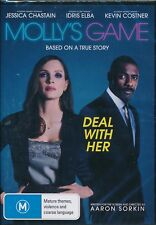 Molly's Game DVD NEW Region 4 Idris Elba Jessica Chastain