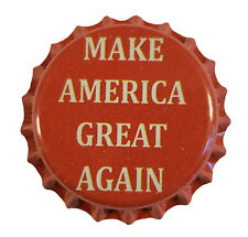 100 Home Brew Beer Bottle Crown Caps Red Make America Great Again Maga