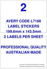 AVERY CODE L7168 LABEL STICKERS 2 PER SHEET X 100 SHEETS SHIPPING POST MAIL