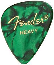 Fender 351 Premium Celluloid Guitar Picks - GREEN MOTO, HEAVY 144-Pack (1 Gross)
