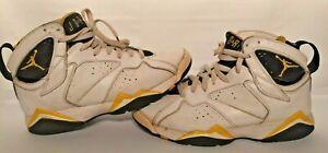 2005 Nike Air Jordan Retro VII 7 Womens Size US 8 UK 5.5 White Yellow 313358-172
