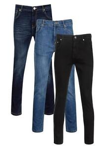 Tall Mens Stretch Denim Jeans Slim Fit Sizes 32 to 42 Inseam 36 38 By Aimwell