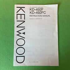 KENWOOD KD-492F Turntable Instruction Manual.
