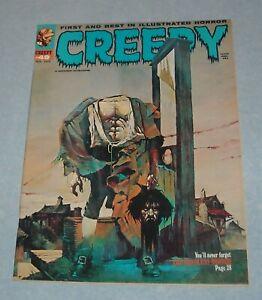 1972 WARREN CREEPY HORROR COMICS MAGAZINE # 49 SANJULIAN HEADLESS CORPSE COVER