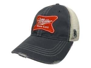 Miller High Life Brewing Company Retro Brand Vintage Mesh Beer Adjust Hat Cap