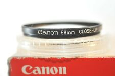 Canon 58mm Close Up 450 filter from 70's FL FD RF EF lens easy macro