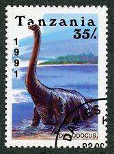 """Prehistoric Animals: """"Diplodocus"""", 1991 Tanzania, Scott #763"""