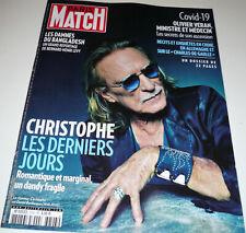 PARIS MATCH N°3703 - CHRISTOPHE - Les Derniers Jours - Avril 2020 -