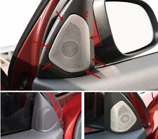 Car Front Door Stereo Audio Speaker Stainless Steel Cover fit For Volvo V60 S60